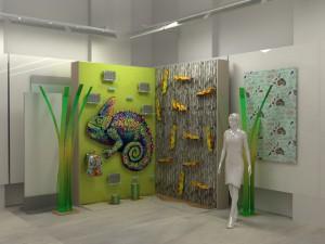 Faber Castell Genç Çizgi Sergisi 3D Render